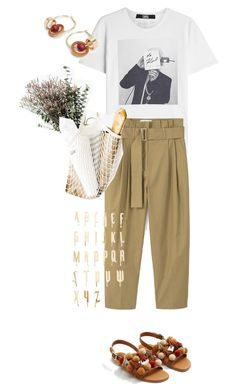 """""""Summer essentials"""" by statuslusso ❤ liked on Polyvore featuring Karl Lagerfeld, MANGO, Lelet NY, summerstyle and summer2017"""