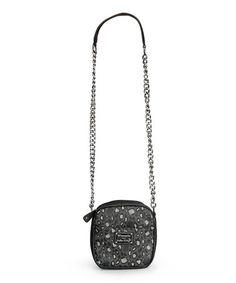 bb855079e7 Hello Kitty Black   Gray Hello Kitty Leopard Chain Crossbody Bag