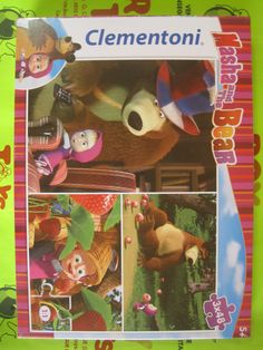 3 puzzle Masha and the Bear 48 pezzi