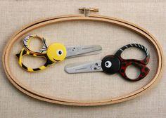 Children's Scissors. Bumble Bee And Lady Bird Shape.