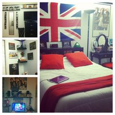 """Teenage girl bedroom!"" Fangirling because there's 1D and Ed Sheeran posters  :'D"