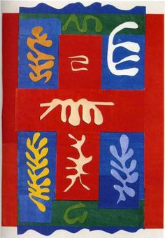 Henri Matisse (1869 - 1954) | Abstract Expressionism | Cut Outs