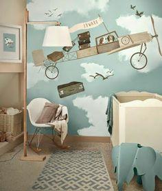 Decoracion Hogar - Comunidad - Google+ Baby Bedroom, Baby Boy Rooms, Nursery Room, Kids Bedroom, Kids Rooms, Beige Nursery, Bedroom Ideas, Theme Bedrooms, Childrens Bedroom