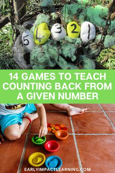 14 Games To Teach Counting Back From A Given Number
