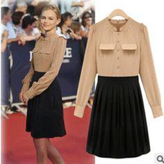 Online Shop 2014 Runway Dress mujer de alta calidad vestidos de manga larga  marca otoño invierno d9ff7d317e3
