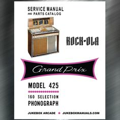 printed jukebox manuals jukebox arcade rock ola 1462 manual rh pinterest com