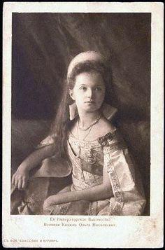 Grand Duchess Olga with kokoshnik tiara and court dress