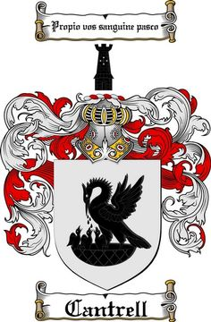 CANTRELL FAMILY CREST - COAT OF ARMS gifts available at WWW.4CRESTS.COM #heraldry #family #crest #shield #crests #shields #genealogy #coatofarms