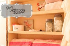 Bathroom Makeover that will transition from little girl to teen! Fun idea for laundry hamper My New Room, My Room, Teen Bedroom Organization, Teen Bathrooms, Laundry Hamper, Little Girl Rooms, Room Accessories, Dream Bedroom, Teen Fun