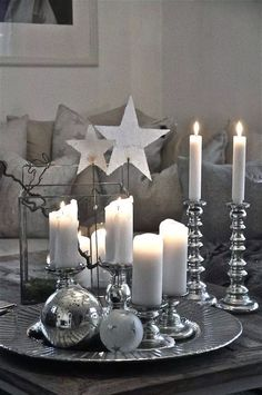 white christmas table decorations - New Year