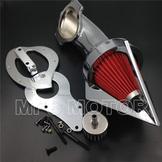 Cone Spike Air Cleaner Kits for Honda Shadow 600 VLX600 VLX 1999-2012 Chrome Motorcycle Part