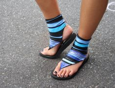 Short Sock Sandals Customizable and by SunSmilesUSA on Etsy, $37.00