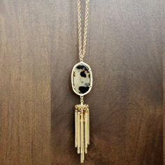 Marbled Tassel Necklace