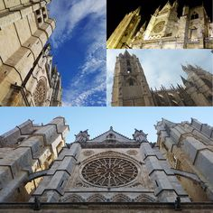Catedral de León en contrapicado #contrapicado #catedraldeleon #catedral #fotografia #photography