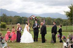 Colorful Stover Hall barn wedding in Luray, Virginia. Rustic barn wedding, purple, orange rustic Shenandoah Valley barn wedding by Mollie Tobias Photography
