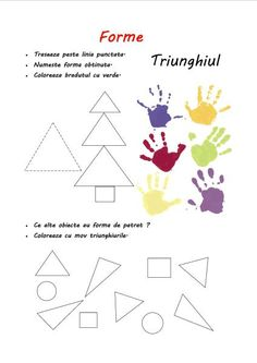 forme-triunghiul Home Schooling, After School, Viera, Diy For Kids, Worksheets, Homeschool, Shapes, Learning, Crafts