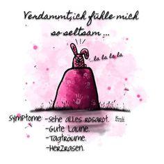 😳 #Verdammt , #ich #fühle #mich soooo #seltsam .... #Symptome : #sehe alles #rosa , #Gutelaune , #Tagträume #Herzrasen ... #Hilfe ist das ne #Krankeit ❓ ist das #ansteckend ❓ Ich muss mal ... 😖😛 sketch #sketchclub #creative #painting #hase #liebe #frühling #frühlingsgefühle #you and #me #sprüche #instalike #picoftheday #sun #sky ✌️