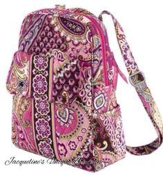 NWT Vera Bradley Backpack Purse in Very Berry Paisley - MSRP $89.00