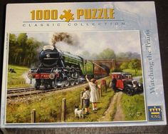 Puzzle Watching the Trains king 1.000 peças