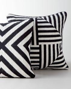 Jonathan Adler Black-and-White Bargello Pillows - Neiman Marcus