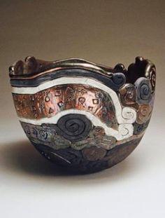 raku bowls by Malgosia Nowakowski