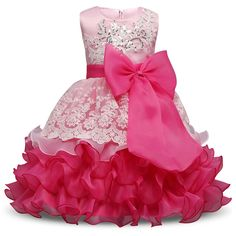 2017 New summer Girl Dress For Wedding Birthday Kids Party Wear Brand Toddler Ball Gown Baby Baptism Clothes For Girls 8 Yrs
