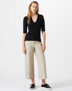 Lux Panama Crop Flare Trousers