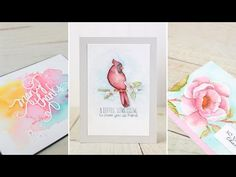 How to transfer an image using a graphite pencil and vellum on watercolor paper.  Wplus9 Design Clips: Distress Ink Watercolor Part 2 - YouTube
