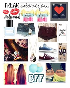 """Random bff ❤️"" by raelynlovescarter on Polyvore featuring Williamsburg Garment Company, Accessorize, Converse, River Island, Marc Jacobs and Casetify"