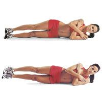 Oblique Exercises -  who doesn't want to lose those love handles (except those who don't have them).