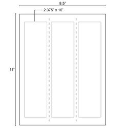 O S Obpls2 375x10i0 3k Blank Paper Labes Of Dimensions 2 375 X 10 Is On Sheet Size 8 5 11 Labels There Are 3 Per Commonly Uses