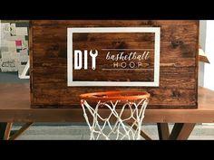 DIY Rustic Basketball Hoop - YouTube