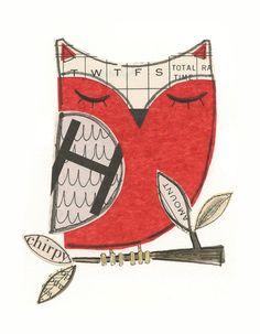 Sleeping Red Owl