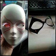 Hey Super boys and girls! Do you need a mask for free comic book day? Here's an easy way to make one if you don't have access to worbla or latex! Just get a creepy face mask, draw your design, cut it out carefully and add paint :) attach with spirit gum or eyelash glue and you're good to go. << Whaaaat