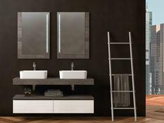 Mobili bagno moderni doppio lavabo : Mobile lavabo componibile doppio