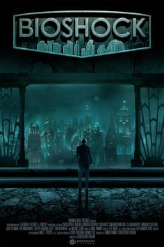 Bioshock Movie Poster Fan-Made. I am seriously dying for them to make a bioshock movie. NEVER GOING TO HAPPEN NERDS! Bioshock 2, Bioshock Infinite, Bioshock Series, Bioshock Rapture, Bioshock Artwork, Illustration Photo, A4 Poster, Fandom, Video Game Art