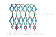 Free pattern for necklace Candy - 2 U need: seed beads 13/0 pearl beads 4 mm round ball beads 6 mm bugle beads