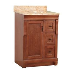 Foremost Naples 25 W x 22 in. D Vanity in Warm Cinnamon with Vanity Top and Stone effects in Tuscan Sun-NACASETS2522D - The Home Depot