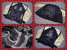 SALE SUKAJAN Souvenir bomber baseball jacket ( japanese M ) Carp Cherry blossoms…
