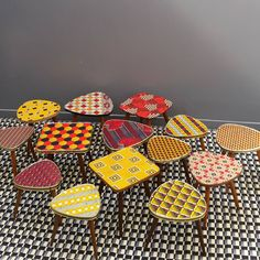 Cool 50s tables with new coverings.