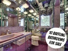 10 Baffling Bathrooms For Sale ListTrue.com Wow - that hurts my eyes!