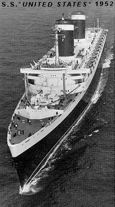SS United States  1952  Its maiden voyage was 1940 and after the war competed for over a decade but the day of ocean liners had passed