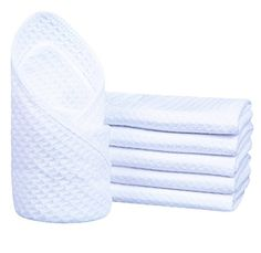 Sinland Microfibre Waffle Weave Dish Cloths Cleaning Clot...