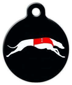 Racing Greyhound Custom Dog Tag
