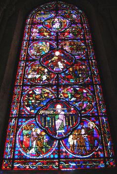Bourges Cathedral stained glass, Bourges, France by ambrett