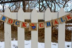University of Kansas Jayhawks, KU, Rock Chalk Burlap Banner, Bunting, Garland on Etsy, $42.00
