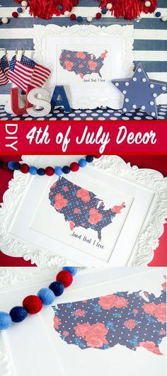 DIY 4th Of July decor ideas