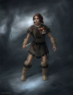Grimwood Character Concept Illustration 4 by Cloister on deviantART Another werebeast character, human form.