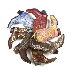 Cowgirl boots!  http://www.countryoutfitter.com/cowboy-boots/womens