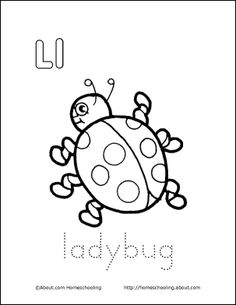 Ll is for Ladybug coloring page